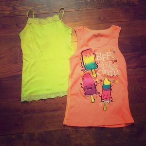 Bundle of Girls Fitted Trendy Tank Tops
